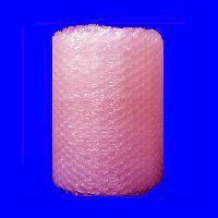 "1/2"" Large Anti-Static Pink Bubble Wrap® Perforated every 12""."