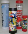 """2"""" x 24"""" Clear Plastic Mailing Shipping Tubes with End Caps"""