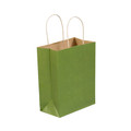 Green Tea Tinted Paper Shopping Bags with Twisted Paper Handles