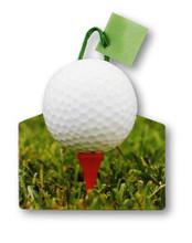 Golf Ball Die Cut Gift Bag, Golf Tee Themed Tote Die Cut Gift Bag