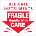 """""""Delicate Instruments - Fragile Handle With Care"""" Shipping and Handling Labels"""