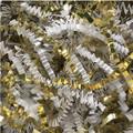 Golden Blends Void Fill - White Paper & Gold Metallic Crinkle Cut Shred