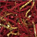 Golden Blends Void Fill - Red Paper & Gold Metallic Crinkle Cut Shred