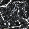 Black Paper Crinkle Cut Shred & Silver Metallic Crinkle Cut Silver Blends Shred