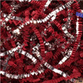 Red Paper Crinkle Cut & Silver Metallic Crinkle Cut Silver Blends Shred