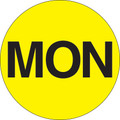 """MON"" - Day of the Week Circle Labels Fluorescent Yellow"