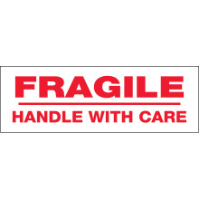 """Pre-Printed Carton Sealing Tape """"Fragile Handle With Care"""""""