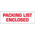 "Pre-Printed Carton Sealing Tape ""Packing List Enclosed"""