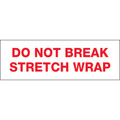 "Pre-Printed Carton Sealing Tape ""Do Not Break Stretch Wrap"""