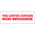 "Pre-Printed Carton Sealing Tape ""Mixed Merchandise"""