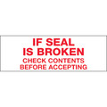 "Pre-Printed Carton Sealing Tape ""If Seal Is Broken"""