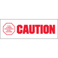 "Pre-Printed Carton Sealing Tape - ""Caution - If Seal Is Broke"""