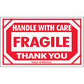 """""""Fragile - Handle With Care - Thank You""""  Shipping Labels"""