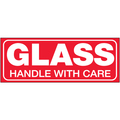 """Glass - Handle With Care"" Shipping and Handling Labels"