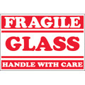 """Fragile - Glass - Handle With Care"" Shipping and Handling Labels"