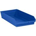 "23 5/8"" x 11 1/8"" x 4"" Blue Plastic Shelf Bin Boxes"