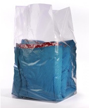 """16""""X14""""x24"""" Clear Gusseted Poly Bags 1.5 mil"""
