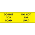 """Do Not Top Load"" (Fluorescent Yellow) Labels"
