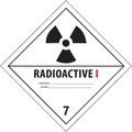 """Radioactive I"" D.O.T. Hazard Labels"