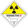 """""""Radioactive III"""" D.O.T. Hazard Labels"""