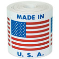 """Made in U.S.A."" Labels Shipping and Handling Labels"