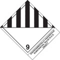 """Environmentally Hazardous Substances, Solid"" Pre-Printed D.O.T Labels"