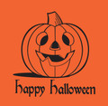 "12"" x 7"" x 23"" Orange High Density T-Shirt / Merchandise Bags with ""Happy Halloween"" Message .5 mil"