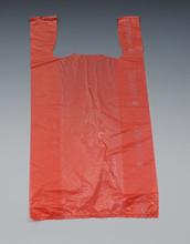 "12"" x 6"" x 23"" Red High Density T-Shirt / Merchandise Bags .65 mil"
