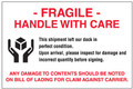 """Fragile - Handle With Care"" Pallet Protection Labels"