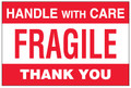 """Fragile - Handle With Care"" Pallet Protection Shipping Labels"