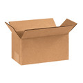 "8""x4""x4"" Brown Corrugated Cardboard Shipping Box"