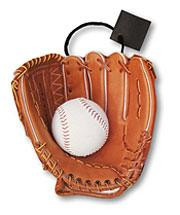 "10"" x 11"" x 4 1/2"" Baseball Glove Medium Die Cut Gift Bag"