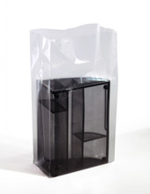 """8""""X4""""x18"""" Clear Gusseted Poly Bags 3 mil"""
