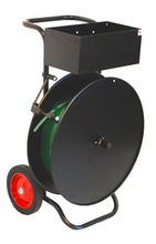 """Strapping Dispenser with Utility Tray, 10"""" Tires, Quick Load System & Brake"""