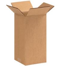"4"" x 4"" x 9"" (200#/ECT-32) Kraft Corrugated Cardboard Shipping Boxes"