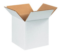 "7"" x 7"" x 7"" (200#/ECT-32) White Corrugated Cardboard Shipping Boxes"