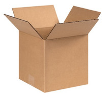 "9"" x 9"" x 9"" (275#/ECT-44) Heavy Duty Single Wall Kraft Corrugated Cardboard Shipping Boxes"