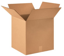 "15"" x 15"" x 15"" (275#/ECT-44) Heavy-Duty Single Wall Kraft Corrugated Cardboard Shipping Boxes"
