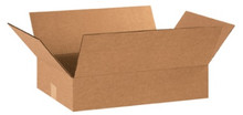"18"" x 12"" x 3""  (200#/ECT-32) Flat Kraft Corrugated Cardboard Shipping Boxes"