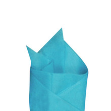 Bright Turquoise (Blue) Color Wrapping and Tissue Paper, Quire Folded