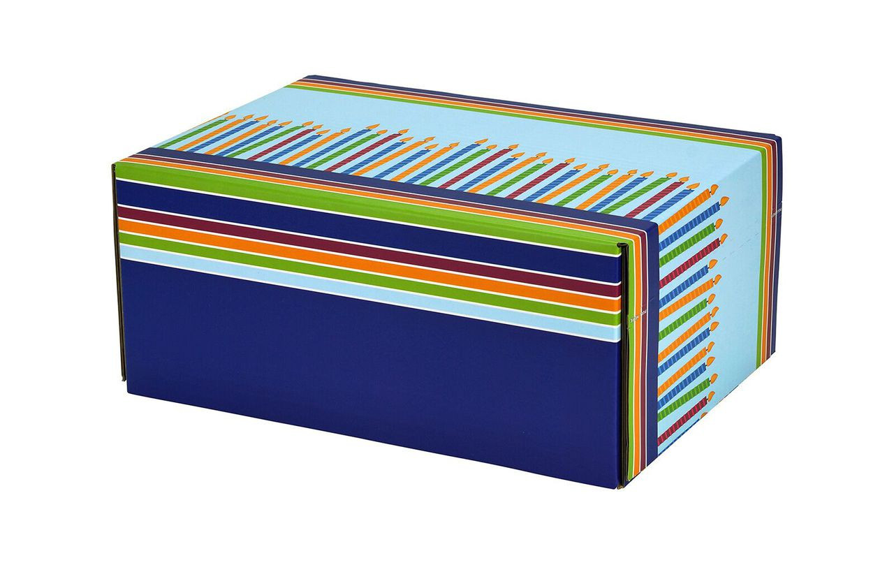 48 Birthday Candles Self Seal Decorative Shipping Boxes 12 1 4 X 8 4 5 X 5 1 2