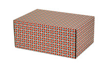"""Colorful Self Seal Decorative Shipping Boxes """"Tile Pattern"""" 12 1/4"""" x 8 4/5"""" x 5 1/2"""""""