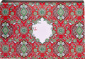 "Christmas Themed Decorative Gift Shipping Boxes ""Tapestry Red"""