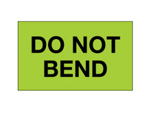 """Do Not Bend"" (Fluorescent Green) Shipping and Handling Labels"