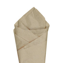Tan Color Wrapping and Tissue Paper, Quire Folded
