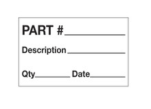 """Part# - Description - Qty - Date"" - Production Labels Shipping and Handling Labels"