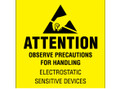 """Attention - Observe Precautions"" (Fluorescent Yellow)  Labels Shipping and Handling Labels"