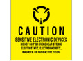 """Sensitive Electronic Devices"" (Fluorescent Yellow) Labels Shipping and Handling Labels"