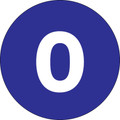 "3"" Circle - ""0"" (Dark Blue) Inventory Number Labels"