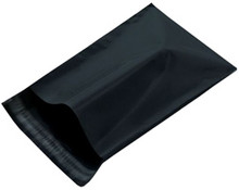 Poly Courier Mailers Black Flat Self Seal Envelopes